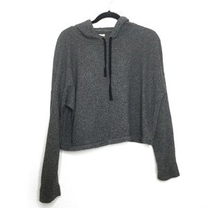 Madewell Short Hoodie Heathered Grey Size Medium